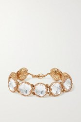 Larkspur And Hawk Olivia Button 18 Karat Rose Gold Dipped Quartz Bracelet One Size