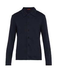 Barena Venezia Stretch Jersey Tailored Cardigan Navy