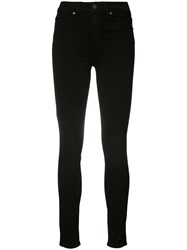 Paige Margot Ultra Skinny High Rise Jeans Women Cotton Polyester Spandex Elastane Rayon 28 Black