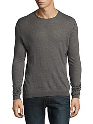 Zadig And Voltaire Teiss Cotton Heathered Pullover Grey