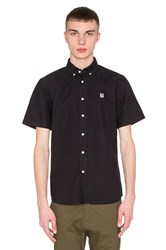 Obey Eighty Nine S S Button Up Black