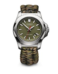 Victorinox I.N.O.X. Green Nylon Paracord Strap Watch