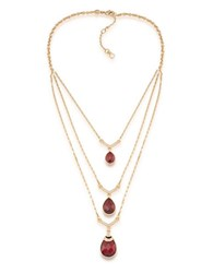 Carolee The Big Apple 12K Goldplated Layered Pendant Necklace