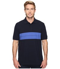 Nautica Short Sleeve Chest Stripe Polo Navy Men's Clothing