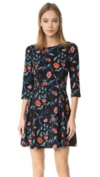Suno Fit And Flare Dress Floral Black