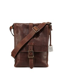Logan Small Leather Messenger Bag Dark Brown Frye