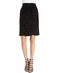 Altuzarra Leopard Print Wrap Front Pencil Skirt Black
