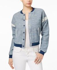 Guess Dobby Colorblocked Bomber Jacket Globe Wipe