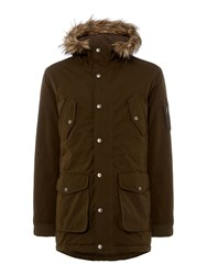 Criminal Men's Harris Parka Khaki
