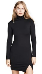 Susana Monaco Long Sleeve Turtleneck Mini Dress Black