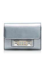 Proenza Schouler Metallic Ps11 Wallet With Strap Silver