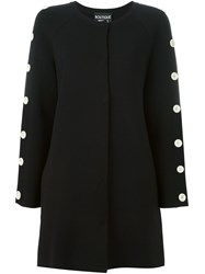 Boutique Moschino Button Detail Knit Jacket Black