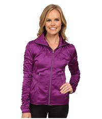 Asics Studio Fit Sana Ruched Jacket Byzantium Women's Workout Red