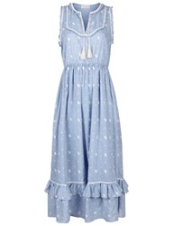 Ulla Johnson Blue Bib Front Maelle Dress Light Blue