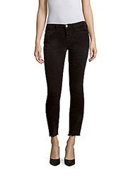 Current Elliott The Stiletto Frayed Hem Jeans Washed Black