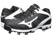 Mizuno 9 Spike Swift 4 Black White Women's Cleated Shoes