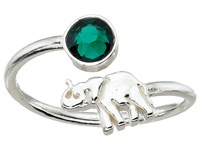 Alex And Ani Elephant Ring Wrap Precious Metal Sterling Silver Ring