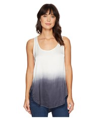 Heather Ombre Scoop Tank Top Charcoal Ombre Women's Sleeveless Black