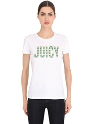Juicy Couture Embellished Jersey T Shirt