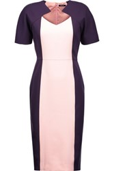 Raoul Adriana Two Tone Twill Dress Purple