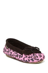 Bearpaw Venia Genuine Sheepskin Lined Moccasin Shoe Pink