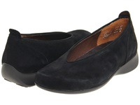 Wolky Ballet Black Goat Suede Women's Slip On Shoes