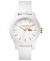 Lacoste Women's 12.12 White Silicone Strap Watch 38Mm No Color