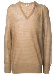 Avon Vintage Waffle Knit Sweater Nude And Neutrals