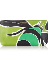 Burberry Printed Leather Clutch