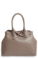 Sole Society Layton Faux Leather Satchel Beige Dark Taupe