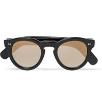 Cutler And Gross Round Frame Acetate Mirrored Sunglasses Black