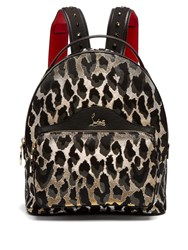 Christian Louboutin Backloubi Small Leopard Brocade Backpack Leopard