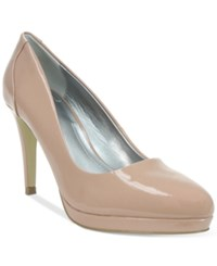 Tahari Party Pumps Women's Shoes Pink Linen