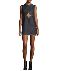Courreges Cutout Denim Shift Dress Brut