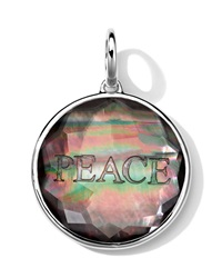 Ippolita Sterling Silver Carved Intaglio Peace Charm Black Shell Doublet