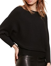 Lauren Ralph Lauren Cotton Blend Dolman Sweater Black