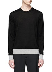 Maison Martin Margiela Leather Elbow Patch Sweater Black