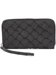 Rick Owens Large Zip Around Wallet Black