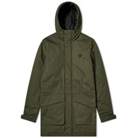 Fred Perry Padded Hooded Jacket Green