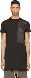 Rick Owens Black Nylon Pocket T Shirt