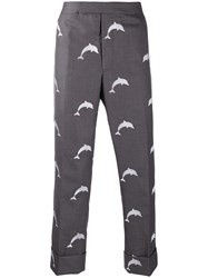 Thom Browne Dolphin Embroidered Backstrap Trousers 60