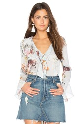 We Are Kindred Primrose Frill Shirt Baby Blue