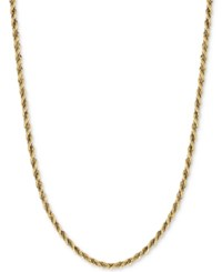 Macy's Two Tone Twisted Box Link Rope Chain Necklace In 14K Gold And White Gold Two Tone