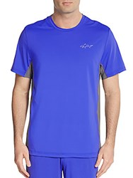 Greg Norman Signature Wagyu Stretch Nylon Crewneck Tee Dazzling Blue
