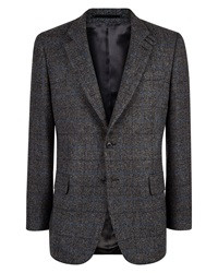 Jaeger Wool Windowpane Classic Jacket Grey