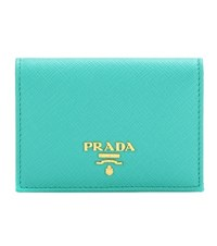 Prada Leather Wallet Green