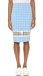 Endless Rose Knee Length Skirt Baby Blue