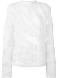 Roberto Cavalli Patterned Jumper White
