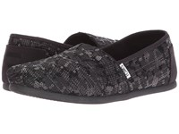 Toms Seasonal Classics Black Sequin Glitz Women's Slip On Shoes