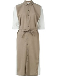 Stephan Schneider Belted Shirt Dress Brown